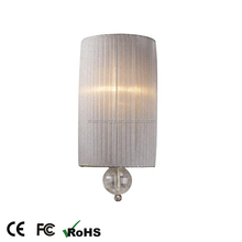 modern indoor pleated fabric lampshade wall light
