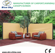 Outdoor retractable wind screen side awning screen for balcony UV-proof