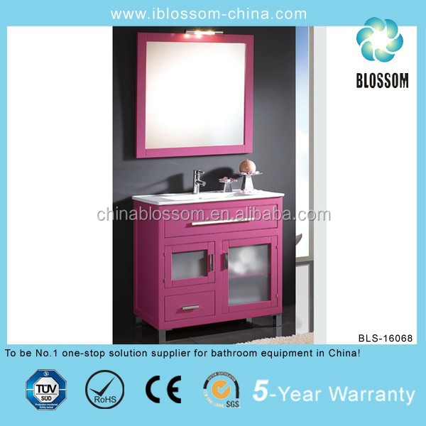 Lovely pink home hotel bathroom wall cabinets