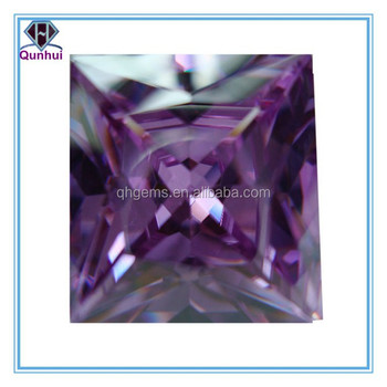 Square shaped gradual change cz stone jewellery