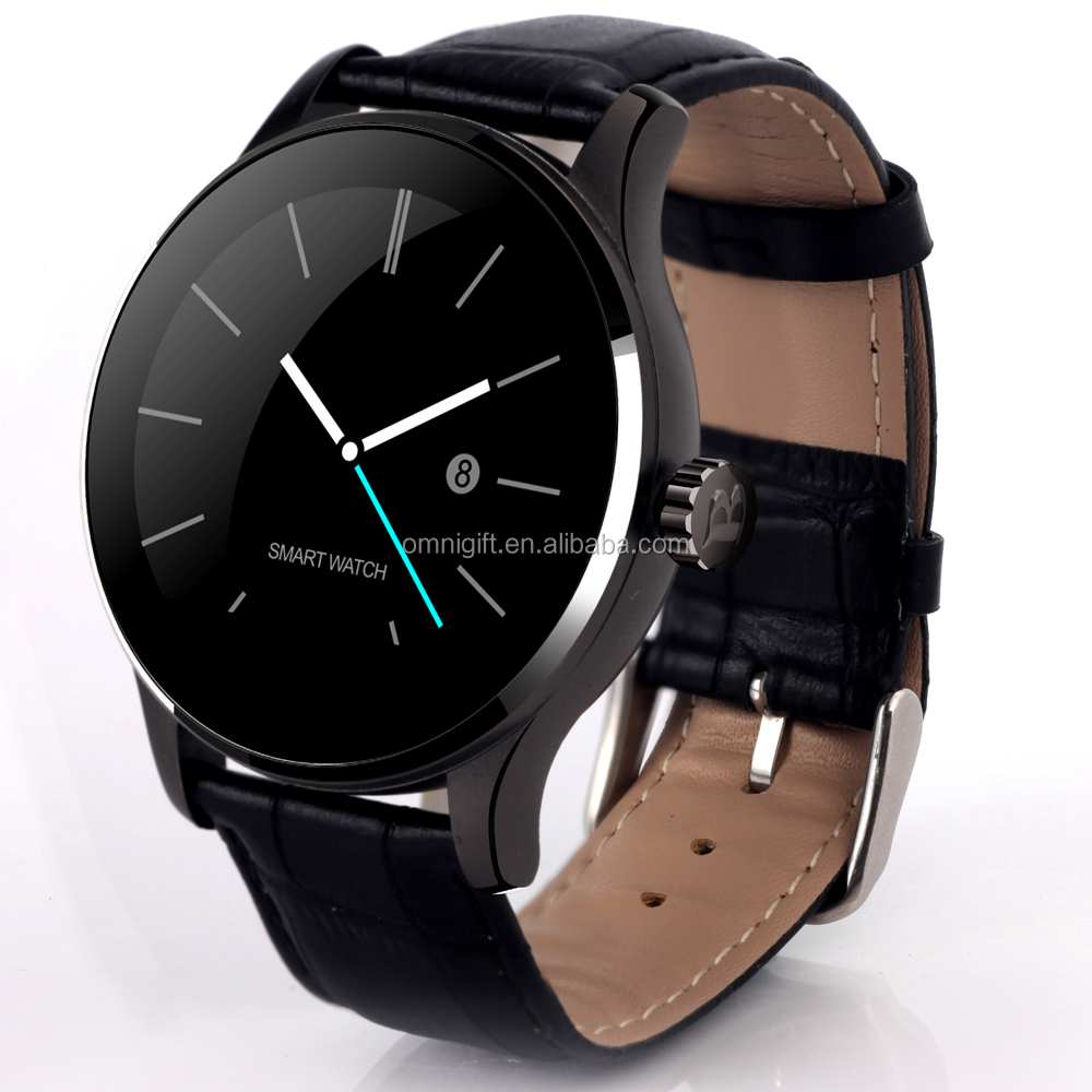 android 4 4 gsm wifi smart wat K88H for small quantities order, Round Screen Smartwatch