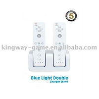 Blue Light Double Charger Stand for wii