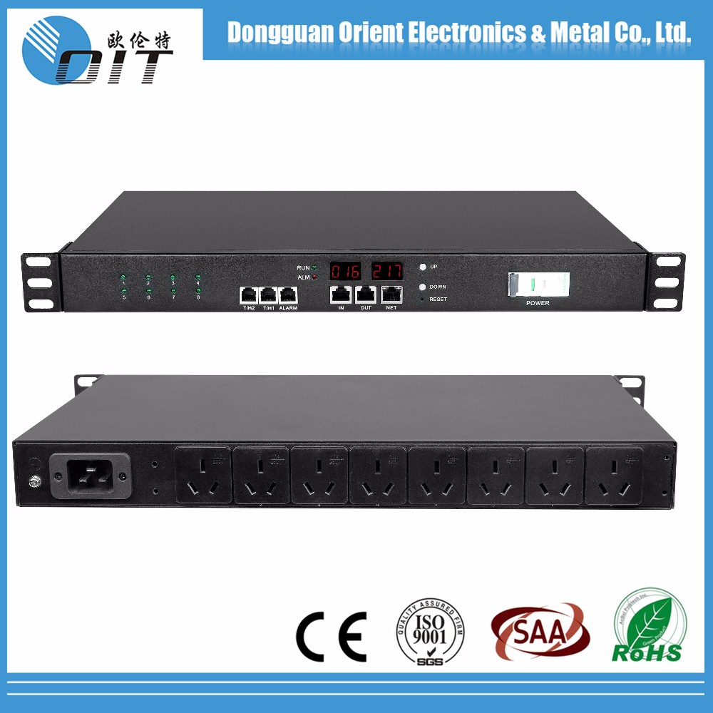 "accept OEM 19"" 8 outlet horizontal switched clever metered pdu"