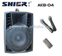 SHIER AK8-04 8 Inch USB SD China voice amplifiers for teachers with wireless microphone