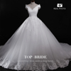 S1439 Elegant Top-Bride Wedding Dress Highest Quality Real Sample
