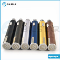 2015 new product Bilstar 5pin usb passthrough LED battery 650mah Myoung ego battery dry herb vaporizer ego t
