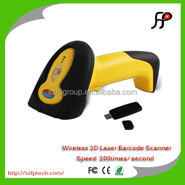 Long distance portable barcode reader wireless barcode scanner with memory