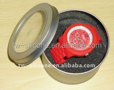Watch box/Watch packaging box round tin box for watch