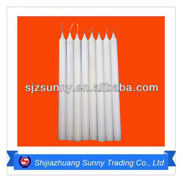 Professional manufacture 40g-100g white cheap pillar candle