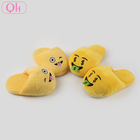 Cheap wholesale custom style girls funny plush emoji slippers