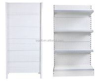Customized 4 Metal Shelves Single Side Display Supermarket Rack With Cheap Price