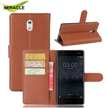 Luxury PU Leather Case Flip Cover For Nokia 3 Wallet Stand Mobile Phone Case