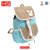 wholesale waterproof custom cute canvas school bag for high school girls