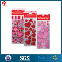 Decorative Clear Resealable Plastic Cello Bag For Valentine Day
