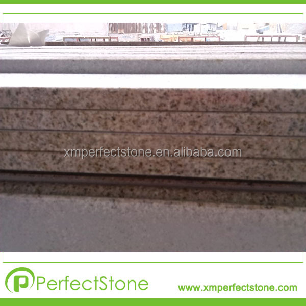 Flat edge sunset gold G682 prefab granite countertop
