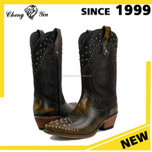 2016 western popular latest design women and ladies leather cowboy boots