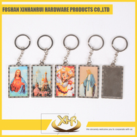 Promotional souvenir personalized custom plastic photo insert or blank keychain supplier