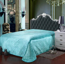 new designs Satin solid color multiple designs bedspread bed cover