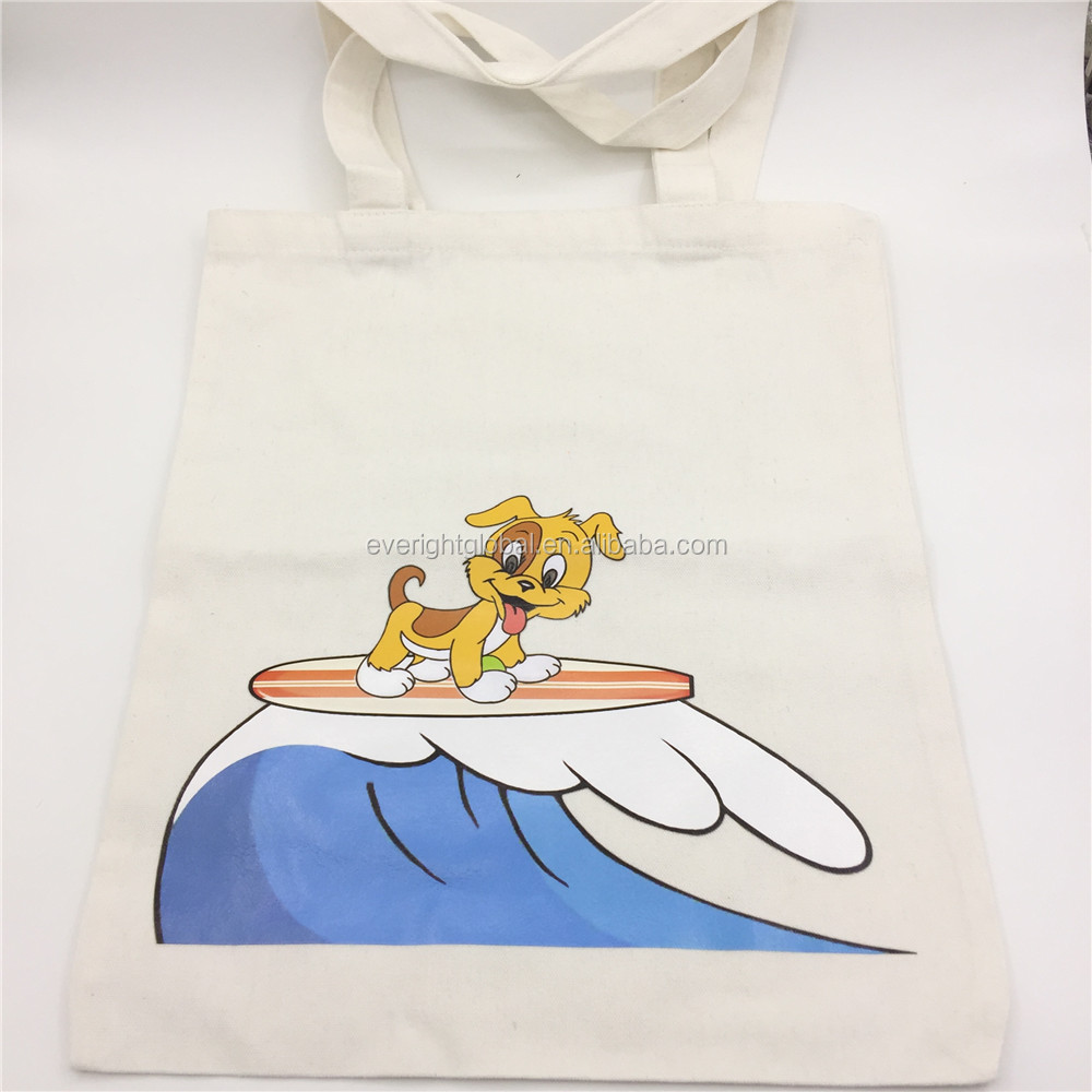T0138 Low MOQ Plain white 100% cotton canvas tote shopping bag with custom logo