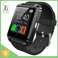 2015 Hot Sell Healthy Life 1.44 Inch U8 Black White Red Three Color Smart Wrist Bluetooth Watch For Andriod Phone Smartwatch U8