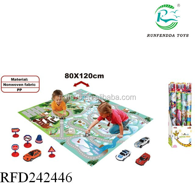 Hot sale newest baby learning playmat city traffic carpet toy