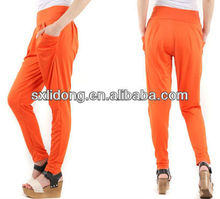 European ladies micro fiber casual loose harem pants