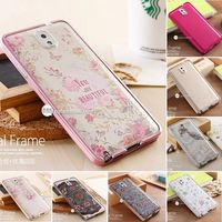 Metal Frame + Plastic Battery Back Cover 3D Embossing Relief Design Phone Case For Samsung Galaxy Note 3 III N9000 Battery Cover