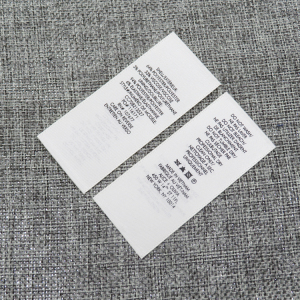 neck labels embossed woven cotton label garment labels /clothing tags / silk screen printed natural label for clothes