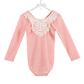 Toddlers baby long sleeves sweet pea rompers spring lace girls romper