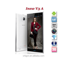 Original Inew V3 MTK6582 Quad Core Smartphone 5.0 inch HD Screen 13.0MP camera Android 4.2 phone in stock