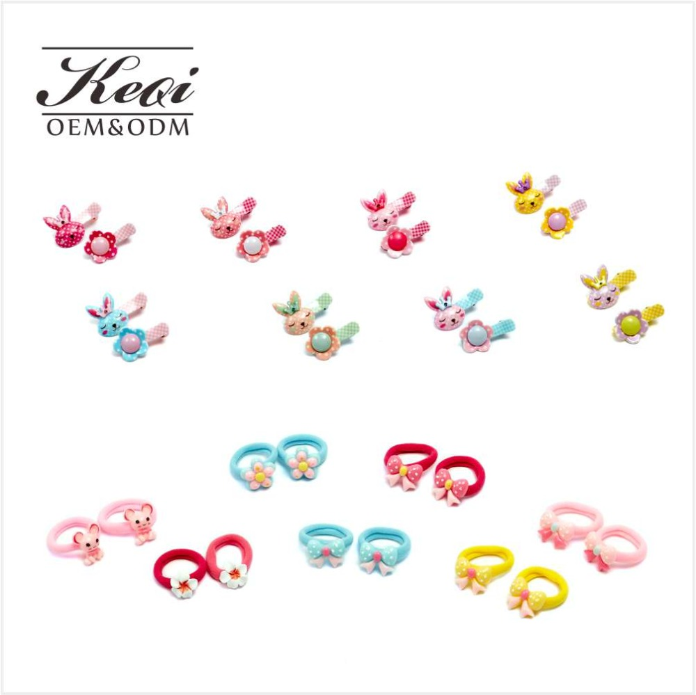 Cute Cartoon Colorful Hair ties Rope band Headpieces and hair clips for Kids Childrens Baby Toddler Girls