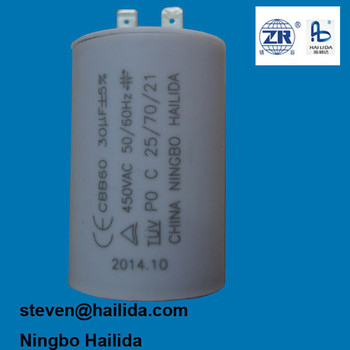 motor running capacitor 30uf 400v for air compressor with CE