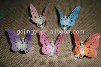 wholesale cheap plastic fiber optic Hanging Butterfly With LED Light
