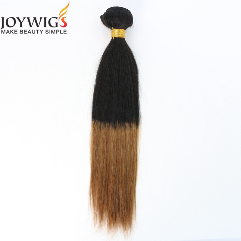 Qingdao factory new fashion Joywigs 10A Grade Unprocessed Brazilian Virgin Human Hair T Colour silk straight Hair Weft