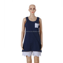 Wholesale New Design Ladies Leisure Suits of Vest and Shorts