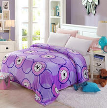 New sale Soft Plush Fleece Throw Blanket Bedspread animal print fleece blanket