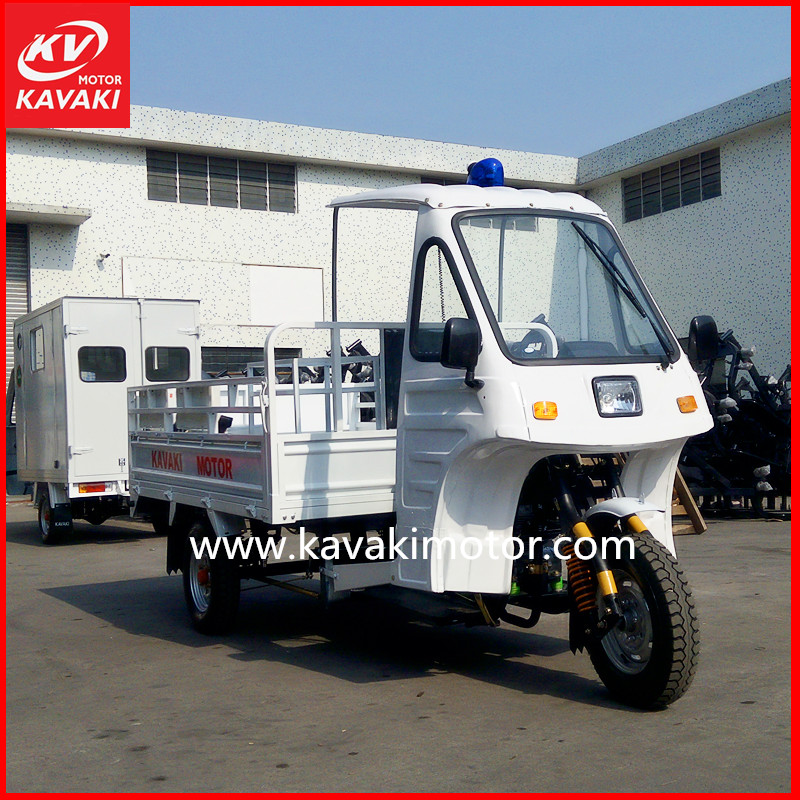 Breakdown van half closed 3 wheel electric cargo scooter use passenger motorcycle three wheeler