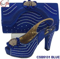 CSB5131 Hot sell beautiful design italian matching shoes and bags for party