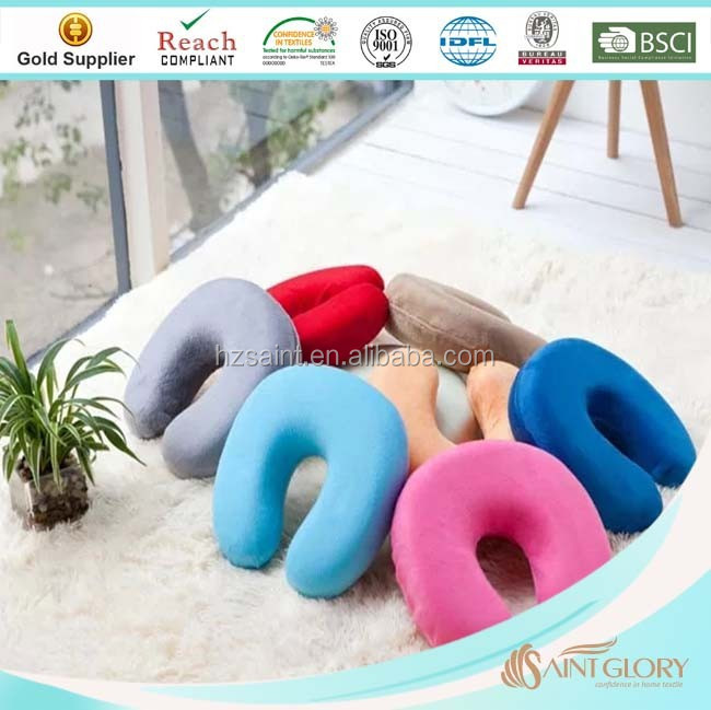 Fashional Car Accessories U Shaped Travel Neck Cushion Headrest Memory Foam Neck Pillow