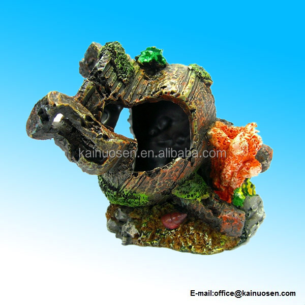 Polyresin Aquarium Ornament Decoration bonsai hide fish tank