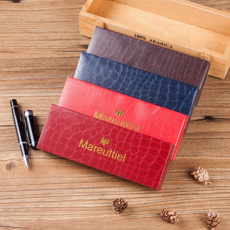 Factory wholesale price leather Personalized empty gift pen packaging box