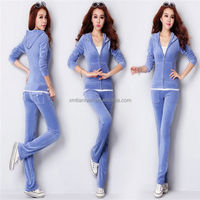 2014 Ladies Womens Sports Sexy plus size velour tracksuits