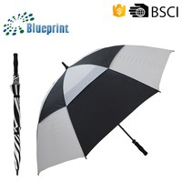 promotional double canopy windproof golf men straight umbrella