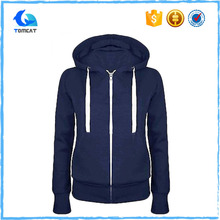 Custom Plain 80 Cotton 20 Polyester Zip Up Hoodies For Women