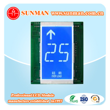 Custom segment electronic lift elevator lcd display panel screen