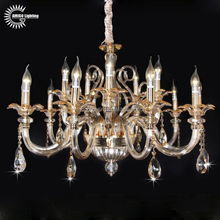 2017 factory-outlet amber crystal chandelier light A6667-10+5