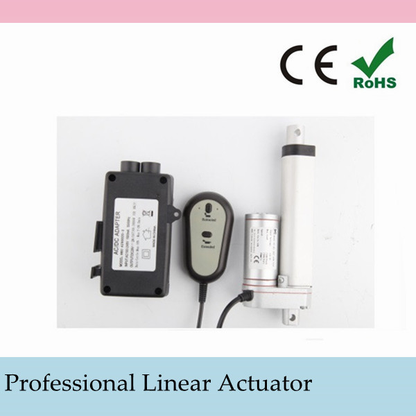 "150mm 6"" Inch Stroke Electric Heavy Duty Mini Linear Actuator 1500N=150KG 330Pound Max Load 12Volt DC Motor for Industry Medical"