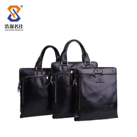 Genuine Leather business briefcases for men