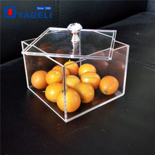 YAGELI factory clear acrylic square box with transparent handle