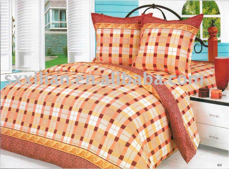 peach skin printing bed comforters /fabric